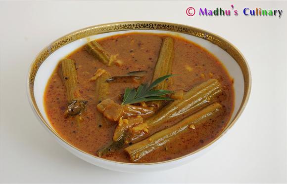 Murungakkai/Drumstick Vetha Kuzhambu