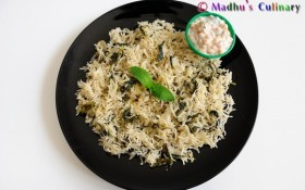 Mint Pulao and Boondi Raita