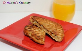 Peanut Butter Grilled Banana Sandwich