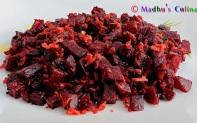 Beetroot Curry / Poriyal