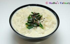 Poosanikkai More Kootu / Ash Gourd Buttermilk Stew