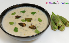 Vendaikkai More Kuzhambu / Okra Buttermilk Stew
